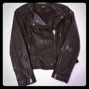 Top Shop Faux Leather Moto Jacket